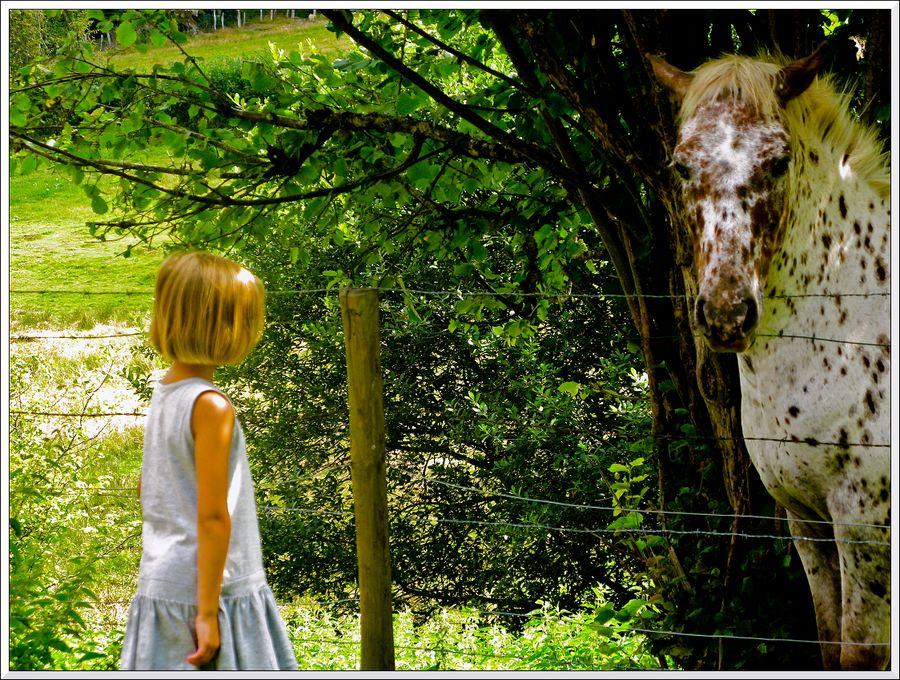 La petite fille et le cheval_